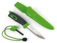 Нож для выживания Swedish FireKnife с огнивом, цвет: зеленый