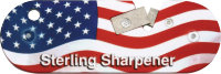 Карманная точилка для ножа Sterling Compact Knife Sharpener, флаг США