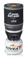 Газовая горелка Kovea Alpine Pot Wide интегрированная система для приготовления пищи
