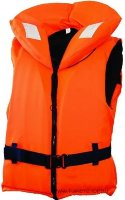 Жилет спасательный с воротником на молнии Norfin 100N, оранжевый, 10-120 кг