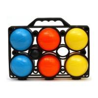 Петанк набор из шести цветных пластмассовых шаров