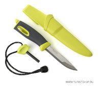 Нож для выживания Swedish FireKnife с огнивом, цвет: лайм