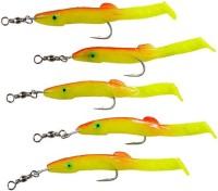 Джиг-рыбка, желтый, 5 шт
