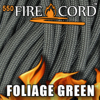 Live Fire Gear 550 FireCord Foliage Green 7.5/30.5 м