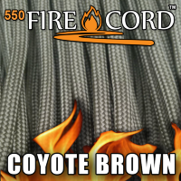 Live Fire Gear 550 FireCord Coyote Brown 7.5/30.5 м