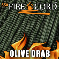 Live Fire Gear 550 FireCord Olive Drab 7.5/30.5 м