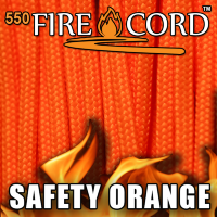 Live Fire Gear 550 FireCord Safety Orange 7.5/30.5 м